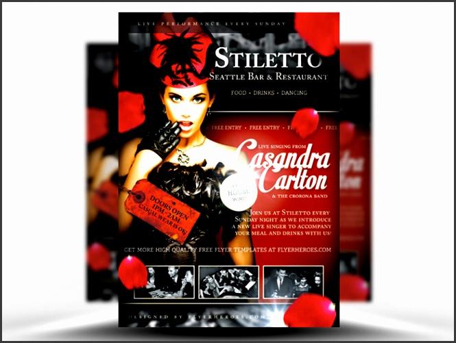 stiletto free singer flyer template