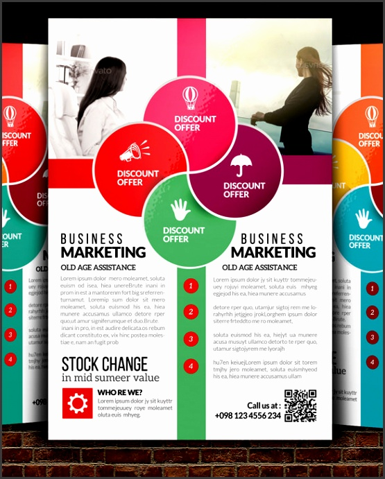 Advertising Flyers Templates Free Business Flyer S Free Psd Illustrator For And Flyer Template With Blue