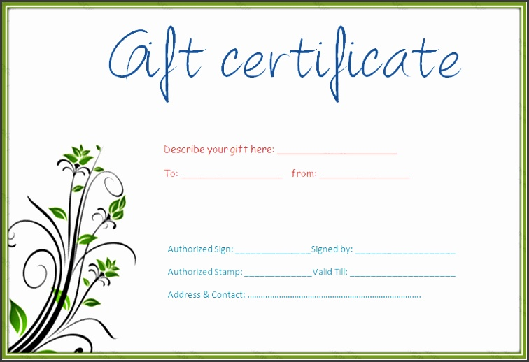Download Free Gift Certificate Template 30 Printable Gift Certificates Certificate Templates Download