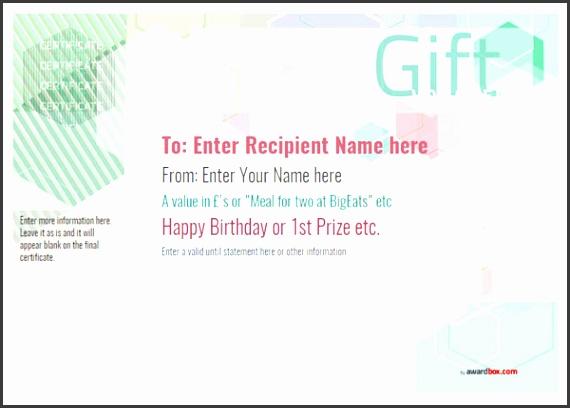 Free Gift Voucher Templates
