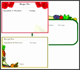 printable recipe card templates free free blank greeting card templates for word