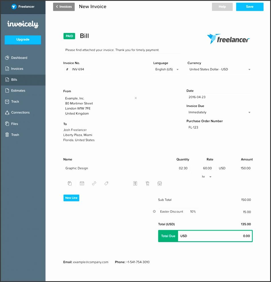 Create beautiful invoices bills estimates in under 60 seconds