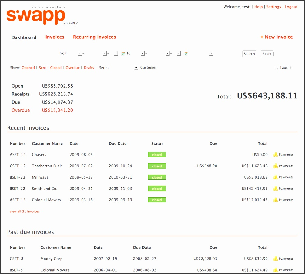 siwapp Free line Invoicing Software