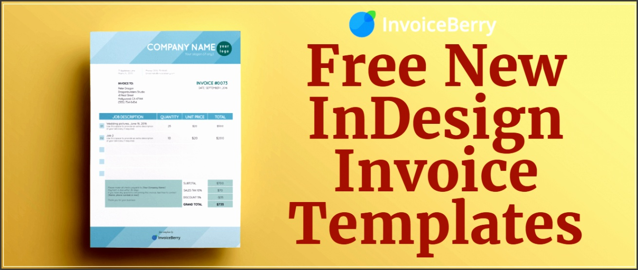 feature free indesign invoice templates