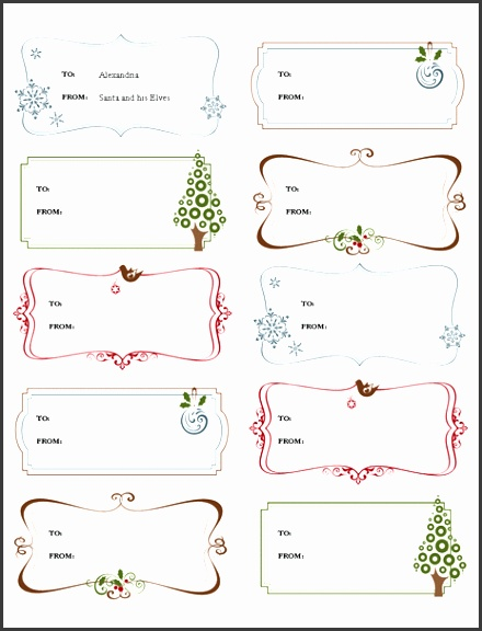 Free Download Gift Labels Gift Certificate Template Free Templates