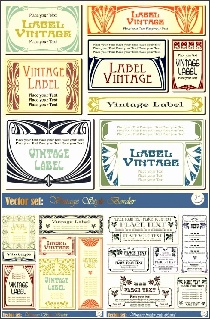 Vintage label templates vector set 2