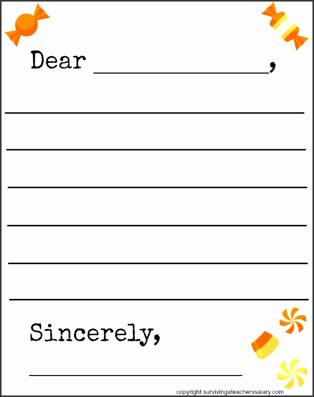 Candy Letter Template