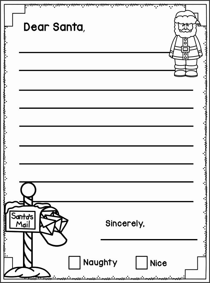 Dear Santa Letter Writing Templates