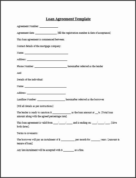 personal loan agreement template free loan agreement template microsoft word templates free