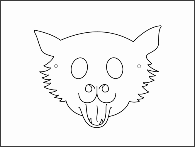 Sample Cat Mask Template for Kids