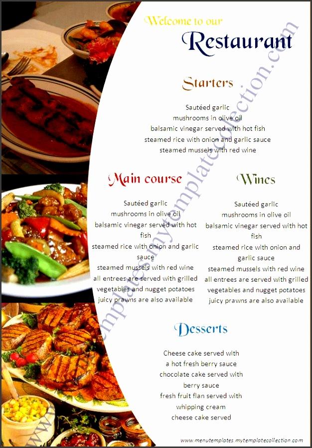Menu Templates Download Free Restaurant Menu Templates ksq7WU46
