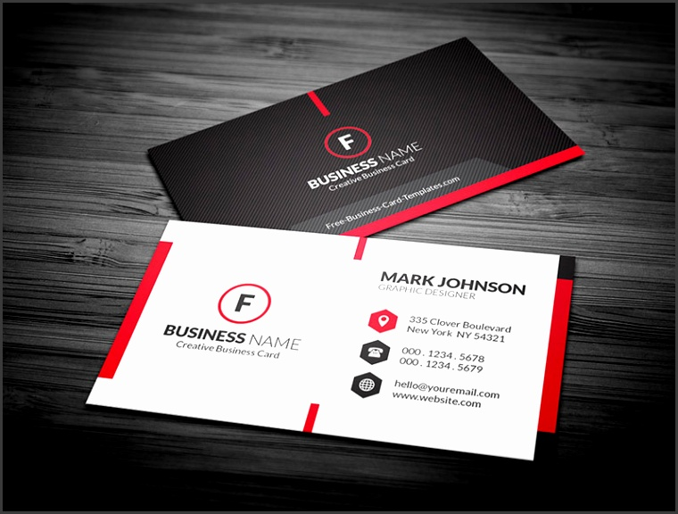 Free Scarlet Red Creative Corporate Business Card Template