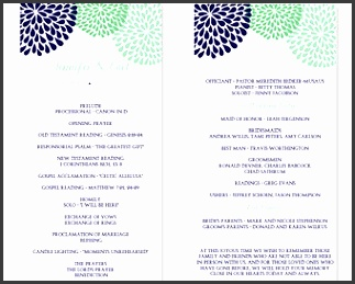 Free one page wedding program templates for microsoft word 8 free one page wedding program templates for microsoft word maxwellsz