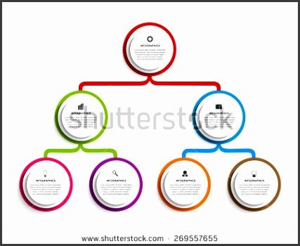 Infographic design organization chart template