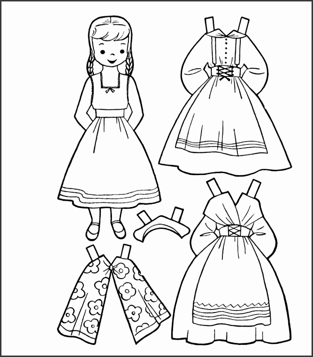 Barbie Paper Doll Template Free Download