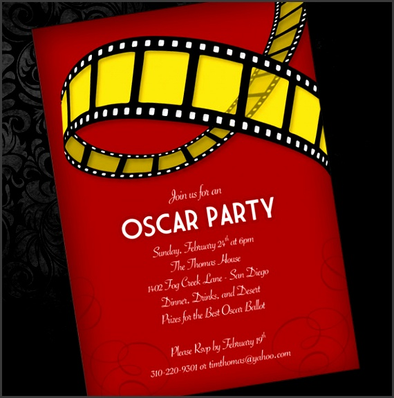 Oscar Party Invitation Template 1
