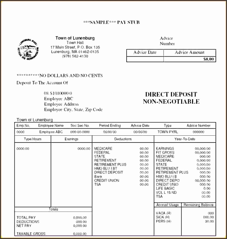 pay stub template free