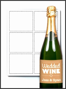 Select This Template · Landscape Wedding Wine Labels