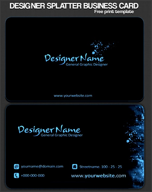 business card template psd templates layered free photoshop