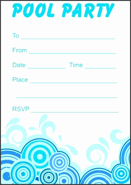 free party invitation templates Free Printable Pool Party Invitations For Your Inspiration