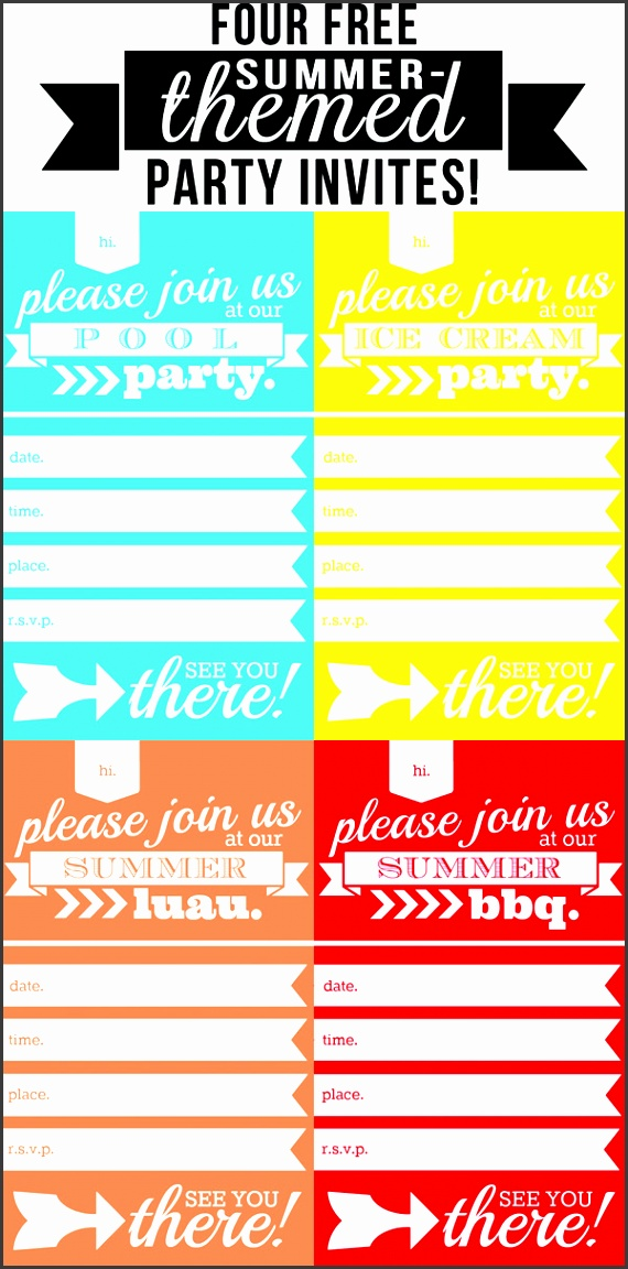 9 Free Pool Party Invitation Template Printable - SampleTemplatess ...