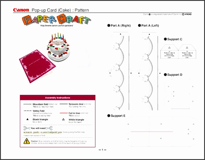 Cake Pop Up Birthday Card Template