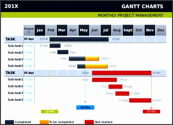 gantt chart template powerpoint powerpoint gantt chart template 8 free ppt pptx documents printable