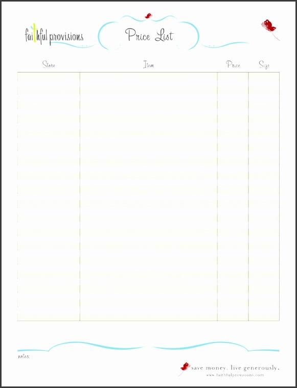free list templates
