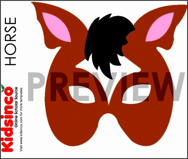 Animal Mask Templates seven total