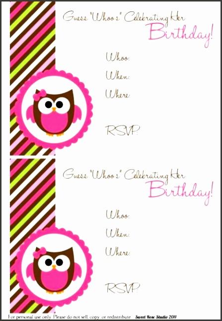 Owl Birthday Party Invitations owl birthday party invitations xzkibt 150 Free Printable Birthday Invitation Card