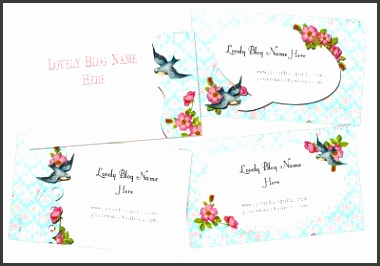 Free Printable Business Cards ShabbyBlogs