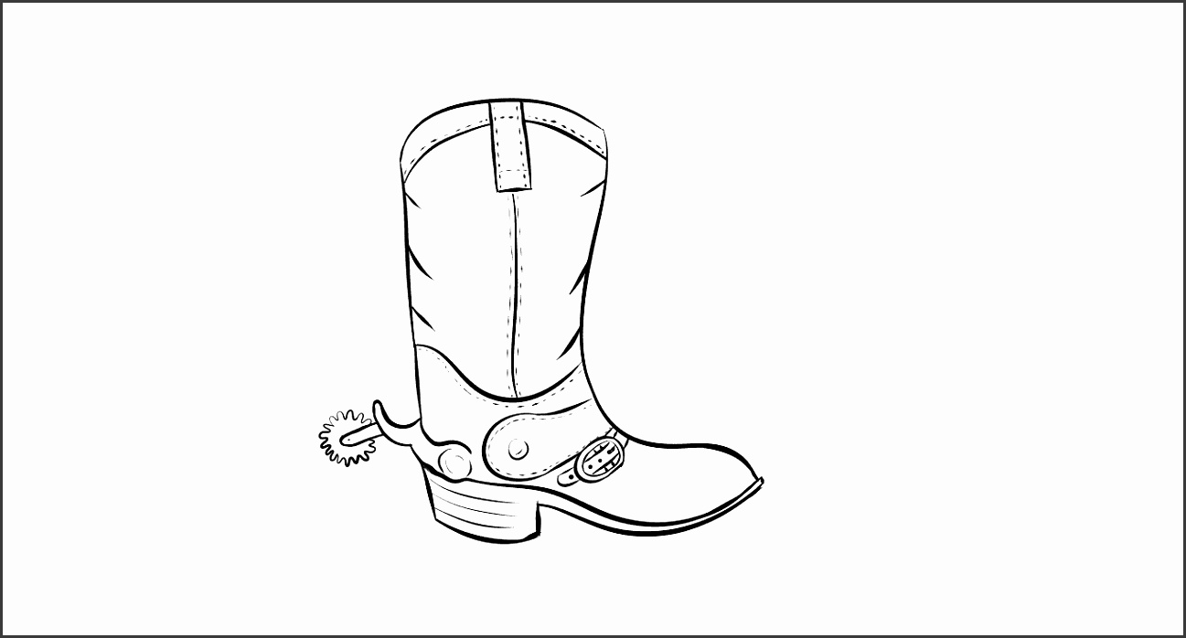 Boots clipart outline 13