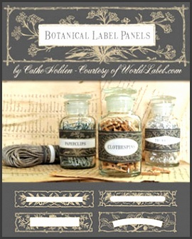 botanical label by cathe holden