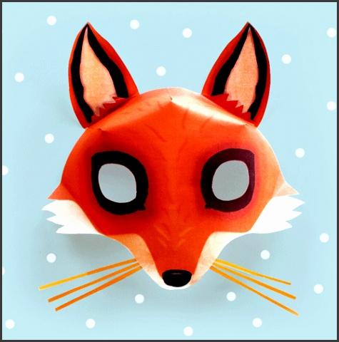 Fox mask template video