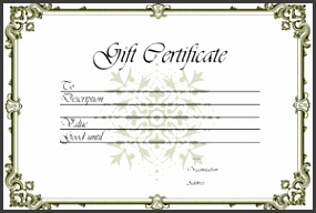 Gift Certificate Templates Free Printable Gift Certificates For throughout Free Gift Certificate Template 1536