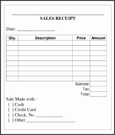 Printable Sales Receipt Template Free Sales Receipt Template for Small Business Sales receipt template provides you an easy and fast solution for your