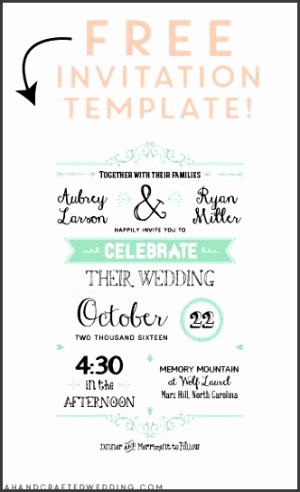 template for invitations free printable
