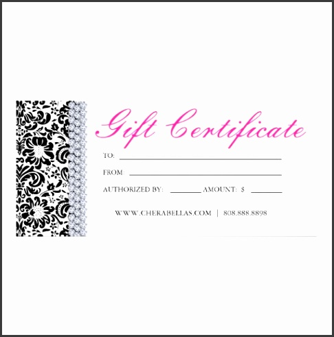 Nail Gift Certificate Template