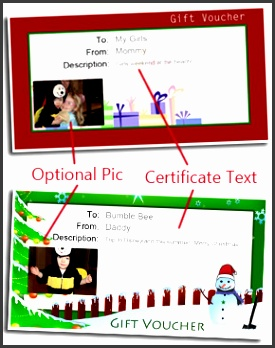 Free Printable Gift Vouchers Christmas t card template How to Customize