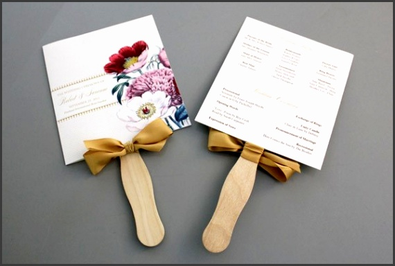 Free wedding fan program template and tutorial