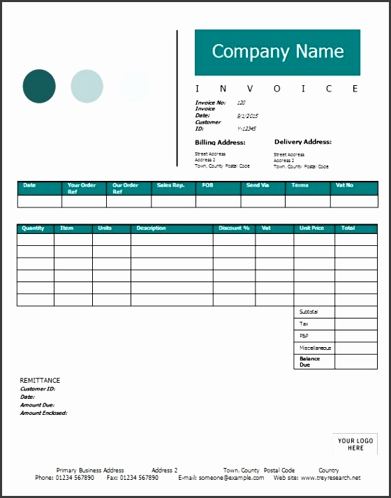 Here is the free Construction Invoice Template