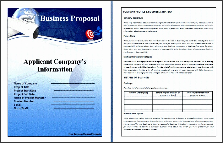 Business Proposal Templates Free 8 Free Business Proposal Templates Artist Resume