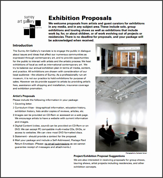 Art Exhibition Proposal Template