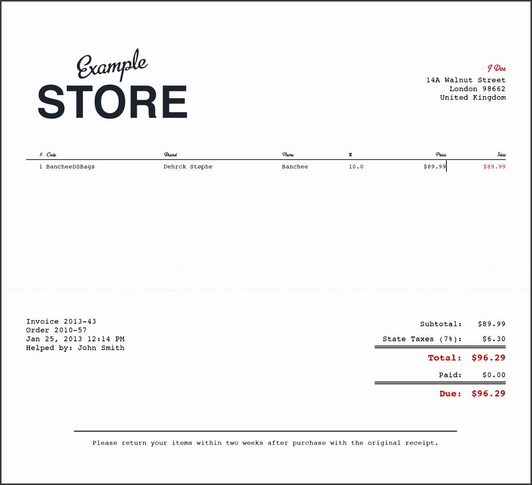sales receipt image 5