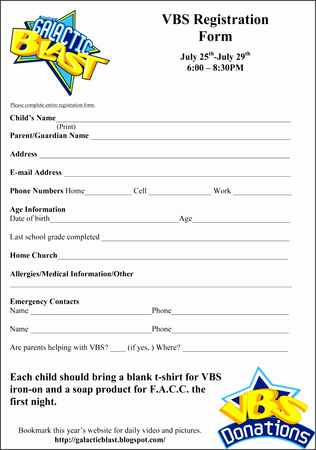 Free Vbs Registration Form Template Vbs Free Sunday School Free Vbs Registration Form Template Vbs Free Sunday School Registration Form Template Beautiful
