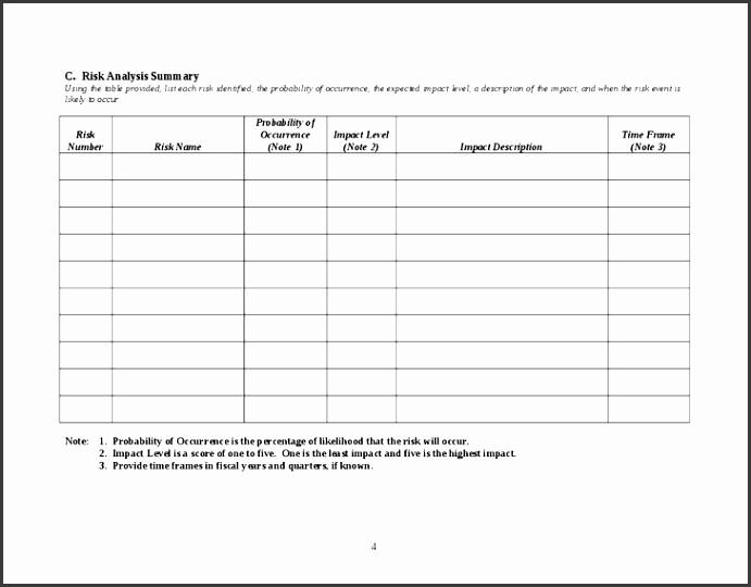 risk management plan template 4
