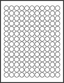 "OL1575 0 625"" Circle Blank Label Template for Microsoft Word"