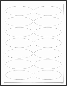 Free blank label template WL 6050 Oval label template in Word c