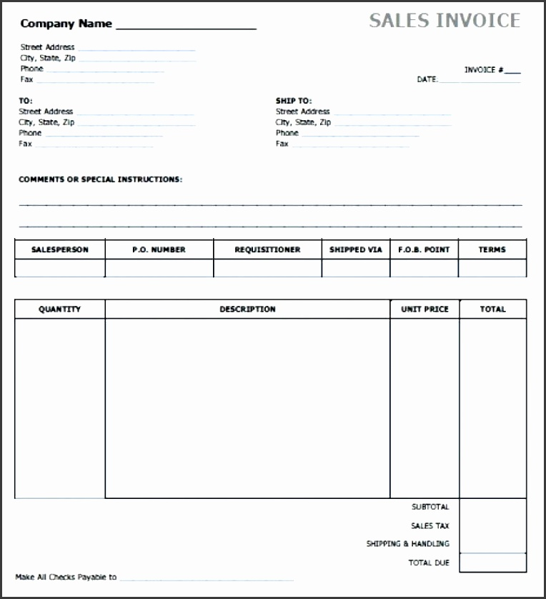 sales invoice template free free sales invoice e excel word doc simple es adobe