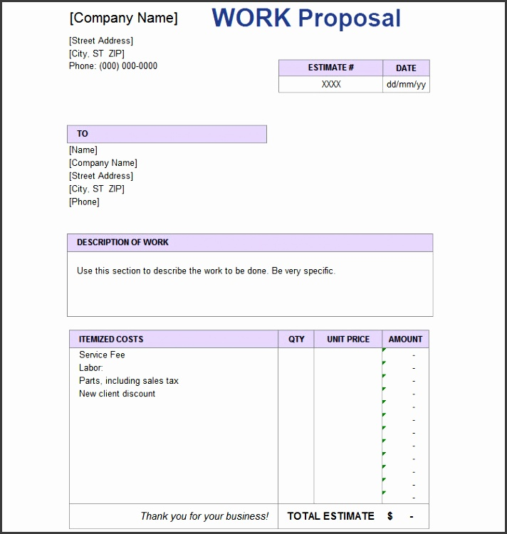 7 Free Sales Proposal Template